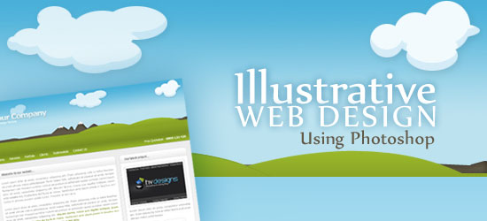 How to Create an Illustrative Web Design in Photoshop