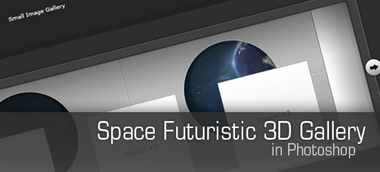 How to Design a Space Futuristic Gallery Layout in Photoshop