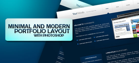 Design a Minimal and Modern Portfolio Layout with Photoshop