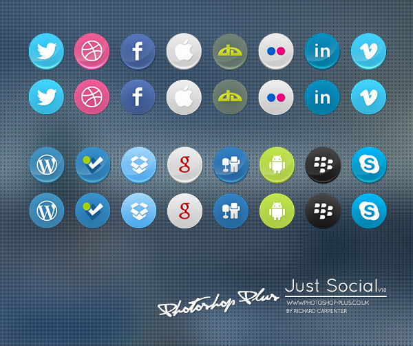 Just Social Icon Set