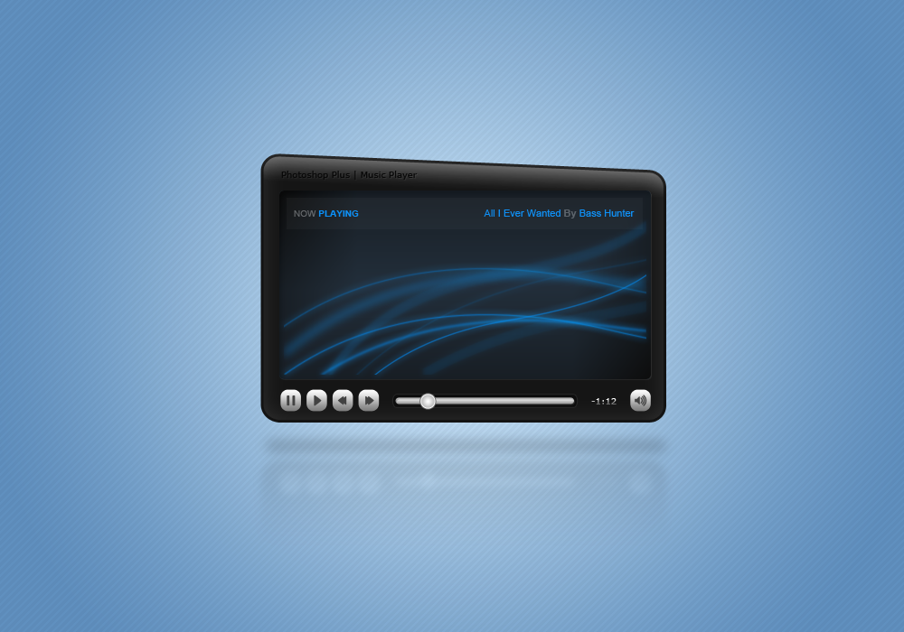 Learn To Create A Simple Yet Pleasing Music Player In Photoshop