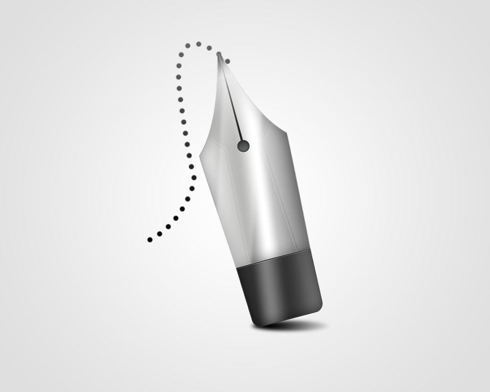 Learn how to create a photoshop style pen tool icon learn how to create a photoshop style pen icon baditri Image collections