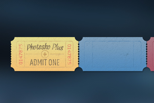 Learn How To Create A Set Of Vintage Tickets