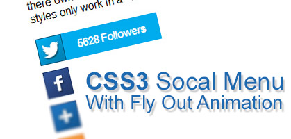 Learn How To Create a CSS3 Animated Flyout Social Menu