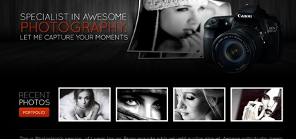 Learn How To Create A Stylish Photography Web Layout