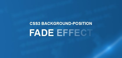 CSS3 Background Position Fade Hover Effect