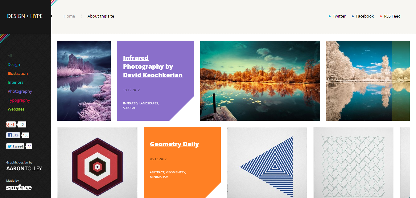 Design + Hype - Fresh Examples of HTML5 Websites