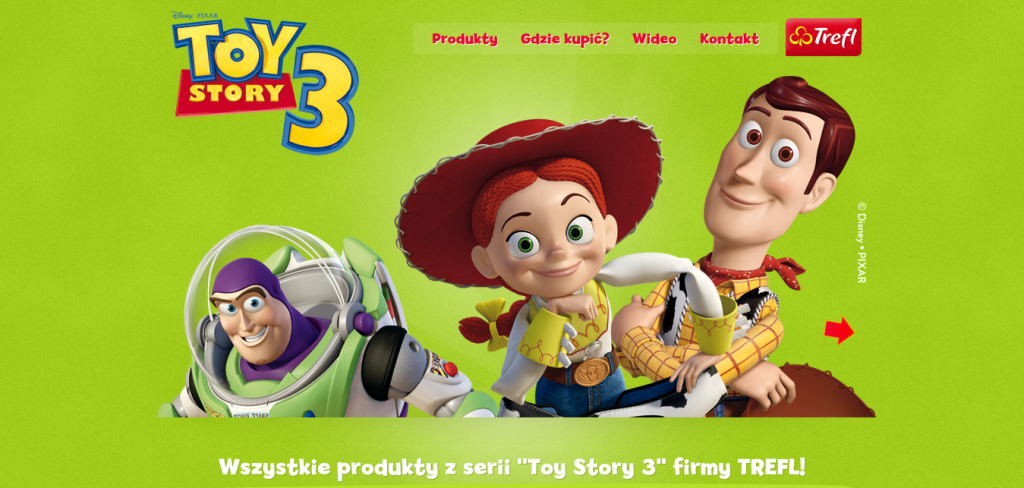 Gry planszowe, przestrzenne, puzzle, gry karciane Toy Story  - Fresh Examples of HTML5 Websites