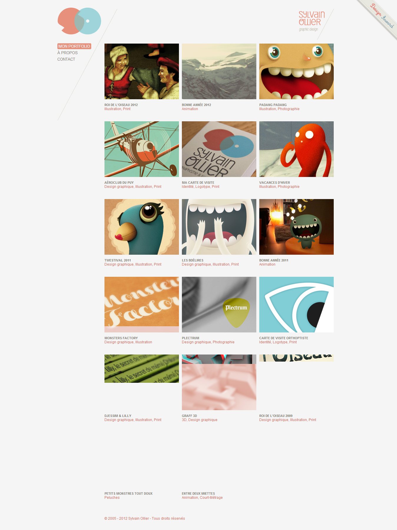 Sylvain Ollier - Fresh Examples of HTML5 Websites