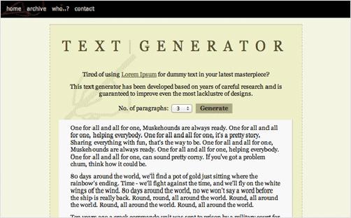10 dummy text generators that a designer must know. Black Bedroom Furniture Sets. Home Design Ideas