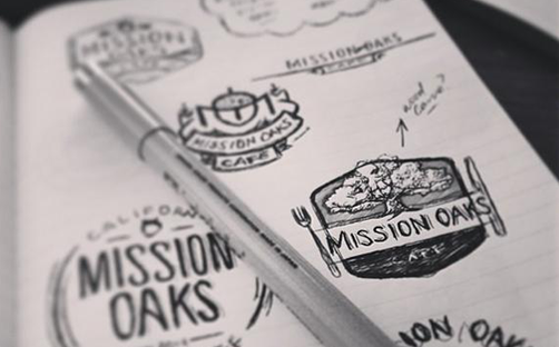 5-Mission-Oaks-Café-Sketchin-by-Mike-Jones