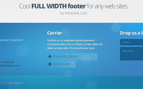 Learn to Build Awesome Website Footer