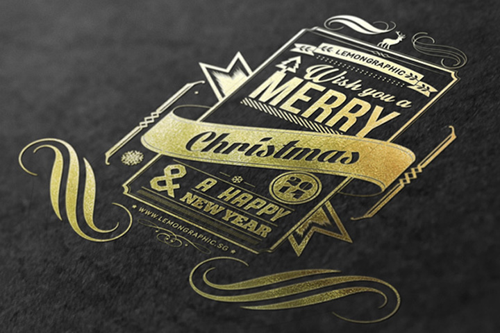Christmas-card-typography-gold-stamp-2014-by-Lemongraphic