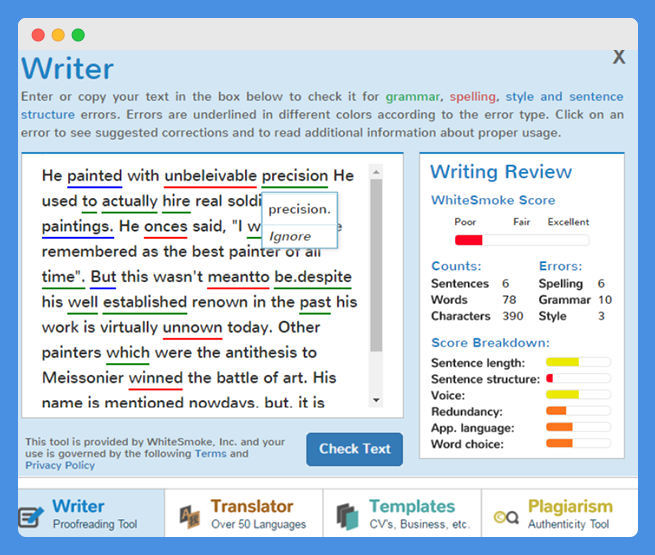 WhiteSmoke Vs Grammarly - Rigorous Themes