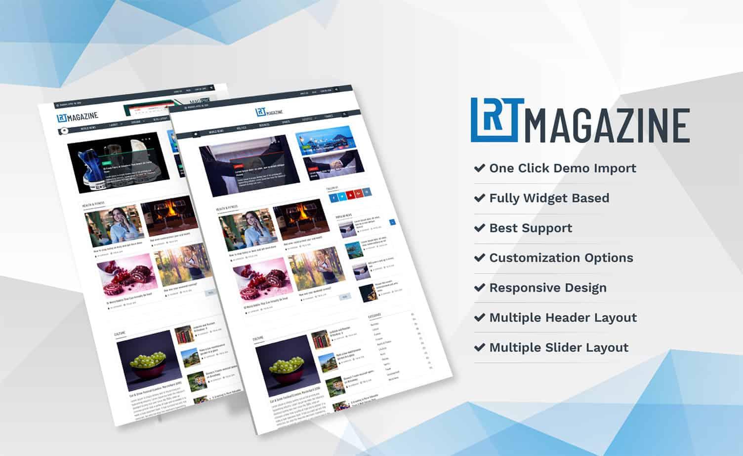 Rt Magazine Best Free Wordpress Magazine And News Theme