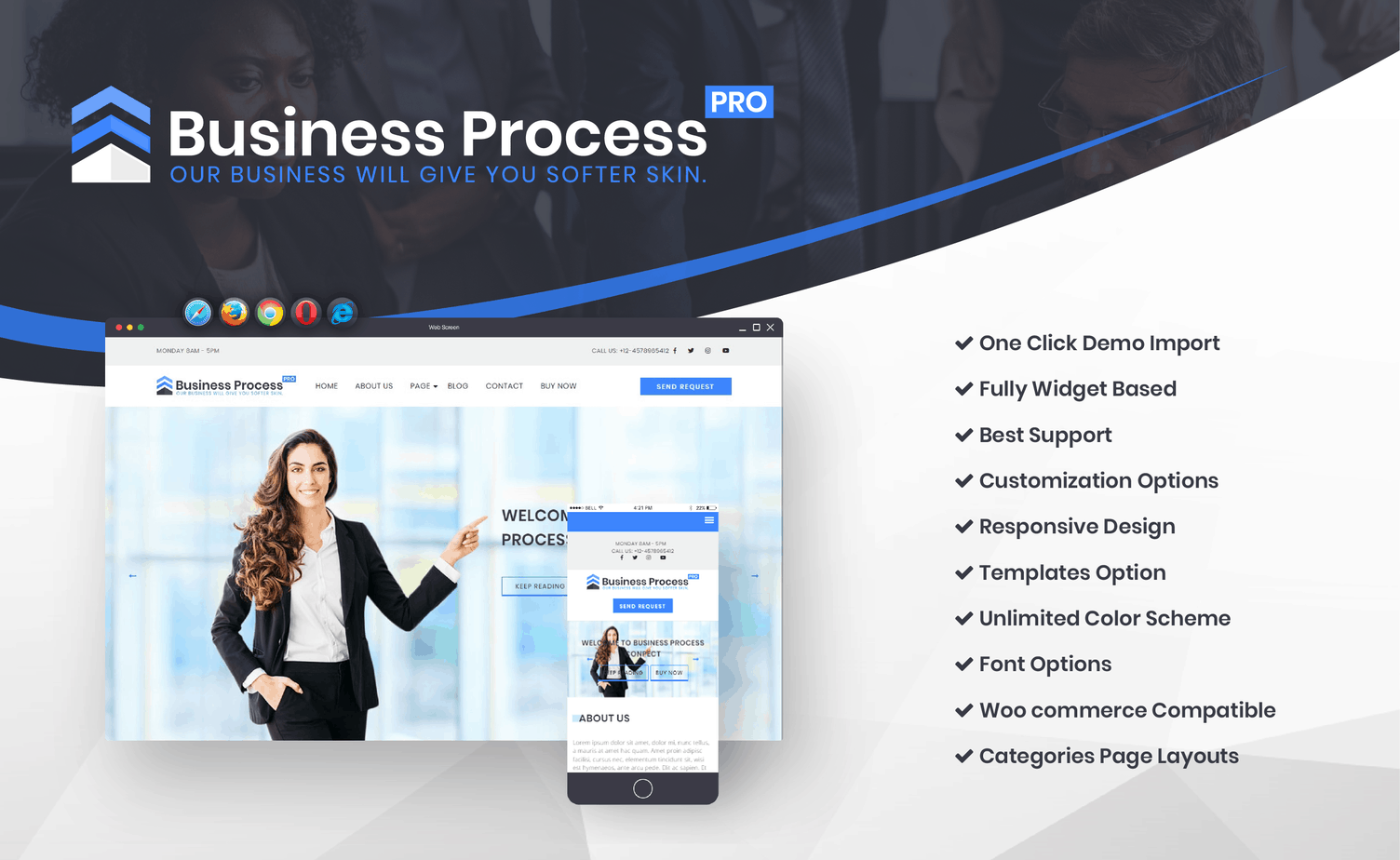 Promo Banner Business WordPress Theme